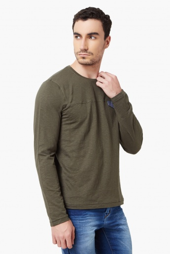 MAX Full Sleeves Crew Neck T-Shirt