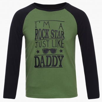 MAX Rock Star Daddy Raglan Sleeves T-Shirt
