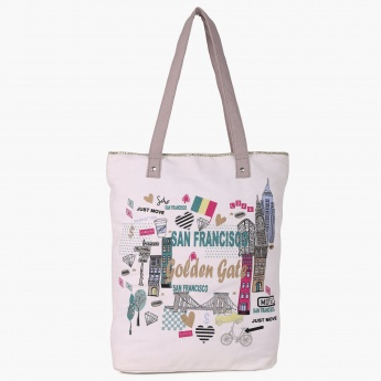 MAX Ladies Shopper Bag   White   Cotton 9a016473d1