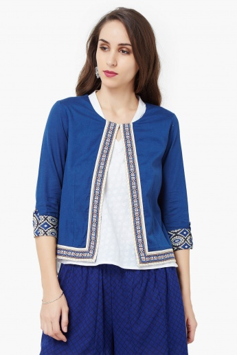 637f328067b MAX Hook Up Bordered Ethnic Jacket
