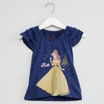 MAX Princess Print Tiered Sleeve Top