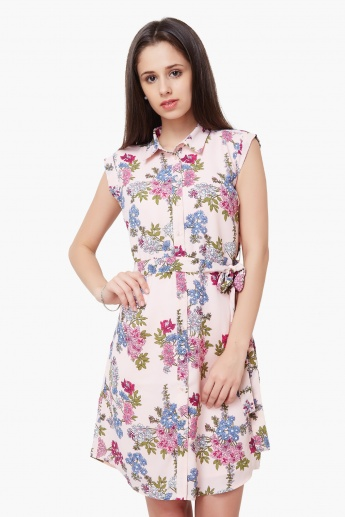 6e641aa23 MAX Floral Print Shirt Dress | Pink | Printed