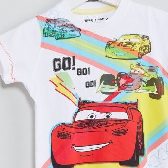 MAX Cars Print Crew Neck T-shirt