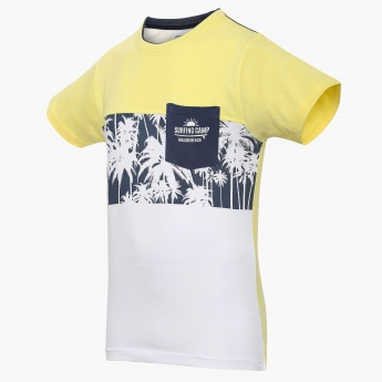 e6b7640d25196 MAX Tropical Touch Patch Pocket T-Shirt | Yellow | Printed
