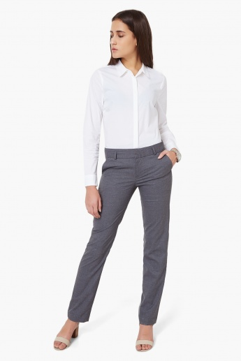 Max Slant Pocket Formal Trousers Trousers Pants Bottoms