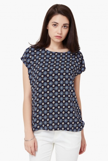 MAX Printed Short Sleeves Top