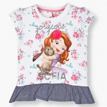 MAX Disney Princess Imprint Peplum Top