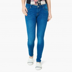 MAX Acid Washed Low Rise Ankle Length Jeans