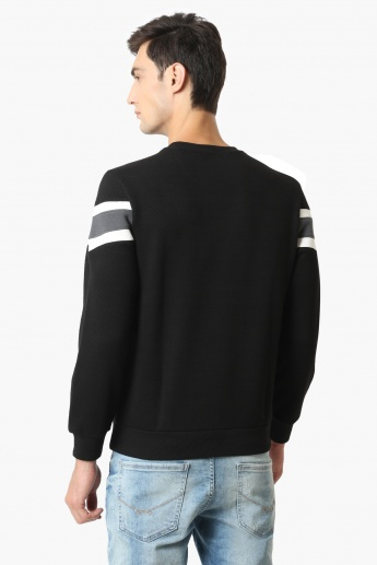 MAX Structured Colour Blocked Sweatshirt