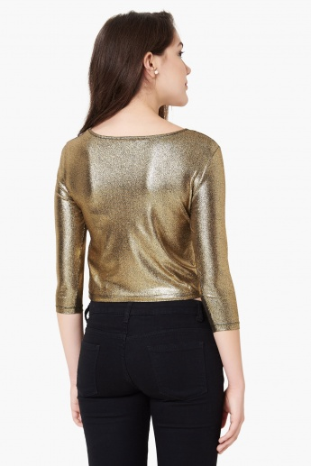 MAX Metallic Moment Crop Top
