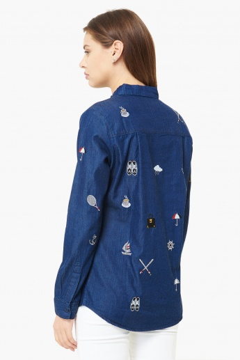 MAX Embroidered Detail Full Sleeves Shirt