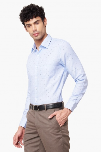 0f13193860 MAX Slim Fit Formal Shirt | Blue | Printed