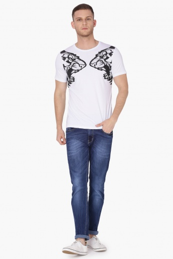 MAX Printed Crew Neck Half Sleeves T-Shirt