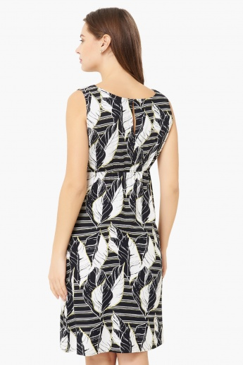MAX Printed Sleeveless Maternity A-Line Dress