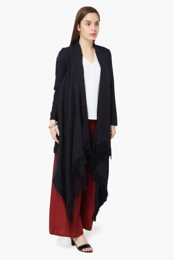 MAX Solid Full Sleeves Front Open Long Koti