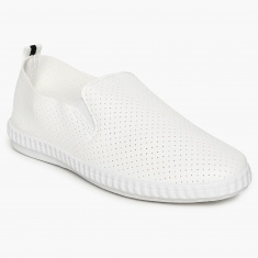MAX Perforated Detail Slip-On Shoes