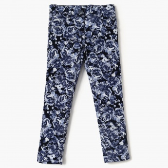 0a886ffe2f MAX Floral Print Twill Weave Trousers