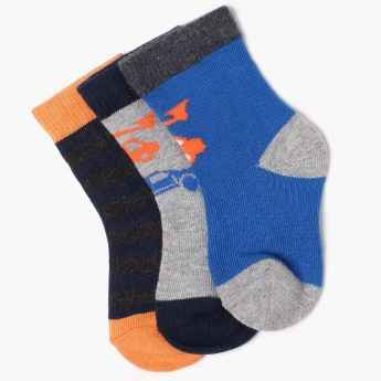 MAX Patterned Cotton Blend Socks -Pack Of 3 Pairs