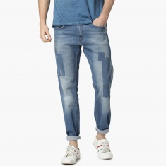 MAX Distressed Washed Low Rise Regular Fit Jeans