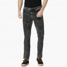 MAX Acid Washed Low Rise Slim Fit Jeans