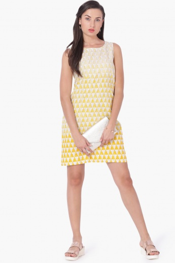 MAX Printed Sheath Dress