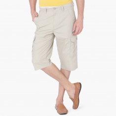 MAX Solid Cargo Pocket Woven Shorts