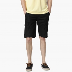 MAX Solid Flap Pocket Shorts