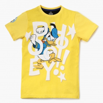 a0145e04 MAX Donald Duck Print Crew Neck Half Sleeves T-Shirt | Yellow | Graphic  Prints