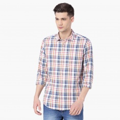 MAX Checked Patch Pocket Full Sleeves Shirt