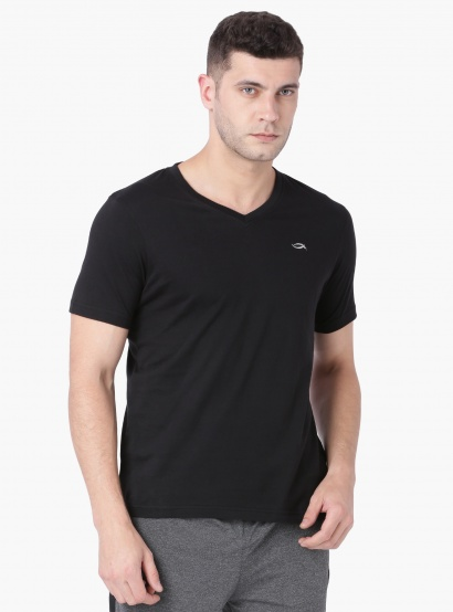 MAX Solid V-Neck Half Sleeves T-Shirt thumbnail