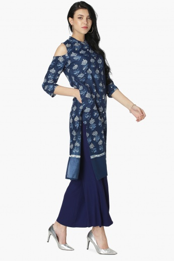 MAX Printed Cold-Shoulder Shirt Kurta