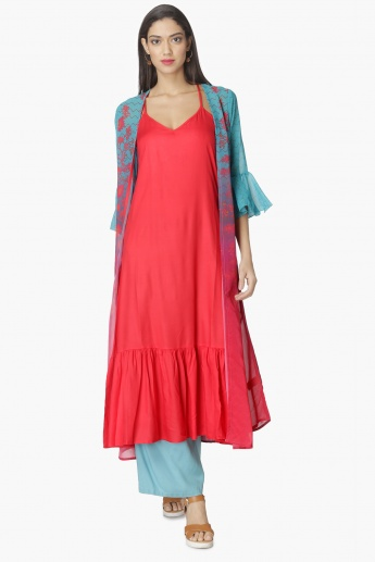MAX Printed Layered Flared Sleeves Kurta