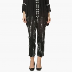 MAX Striper Print Cropped Trousers
