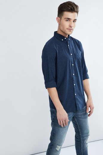 MAX Striped Button-Down Collar Shirt
