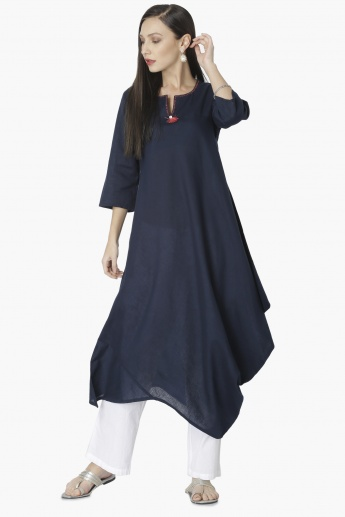 MAX Solid Draped Detail Kurta