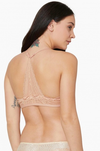 MAX Lace Trim Styled-Back Full-Coverage Bra