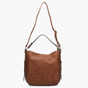 MAX Textured Zip-Up Hobo Bag
