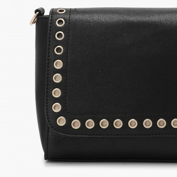 MAX Rivet Detail Flap Closure Sling Bag
