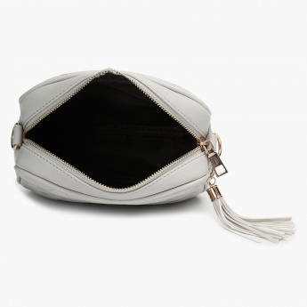 Max Textured Tasselled Sling Bag
