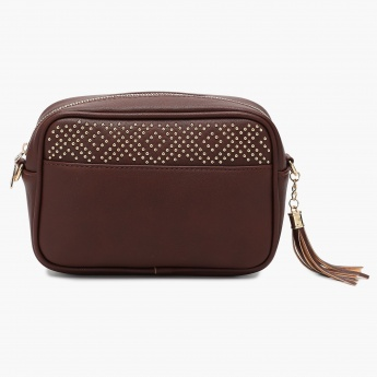 MAX Studded Tasselled Slingbag