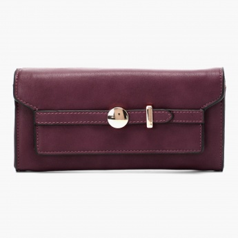 MAX Buckled Flap-over Wallet