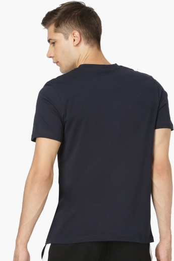 MAX Solid V-Neck T-Shirt With Half Sleeves