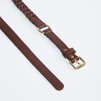 MAX Women Partial Braided Fabric Belt