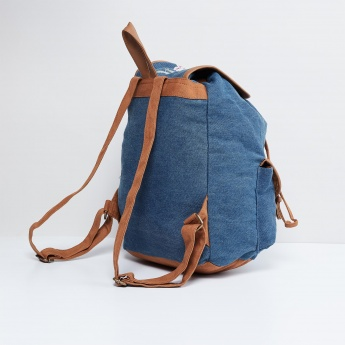 MAX Embroidered Flap Closure Backpack