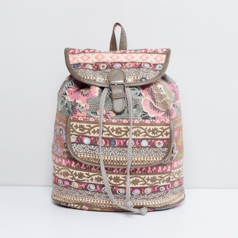 MAX Printed Flap Closure Backpack