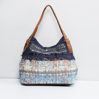 MAX Printed Hobo Bag with Shoulder Straps