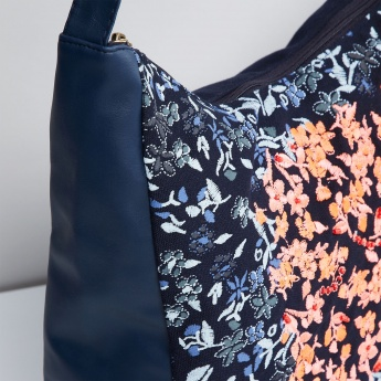 MAX Floral Embroidery Hobo Bag