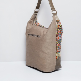 MAX Mirror Work Embroidered Tote Bag