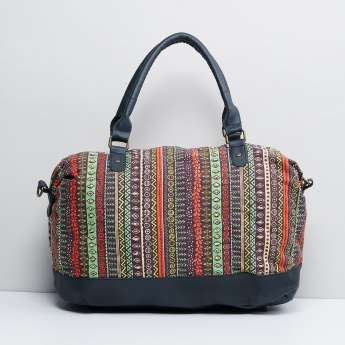 MAX Printed Zip Closure Weekender Bag   Multicolour   Cotton 41c22cd840