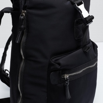 MAX Solid Zip-Up Backpack